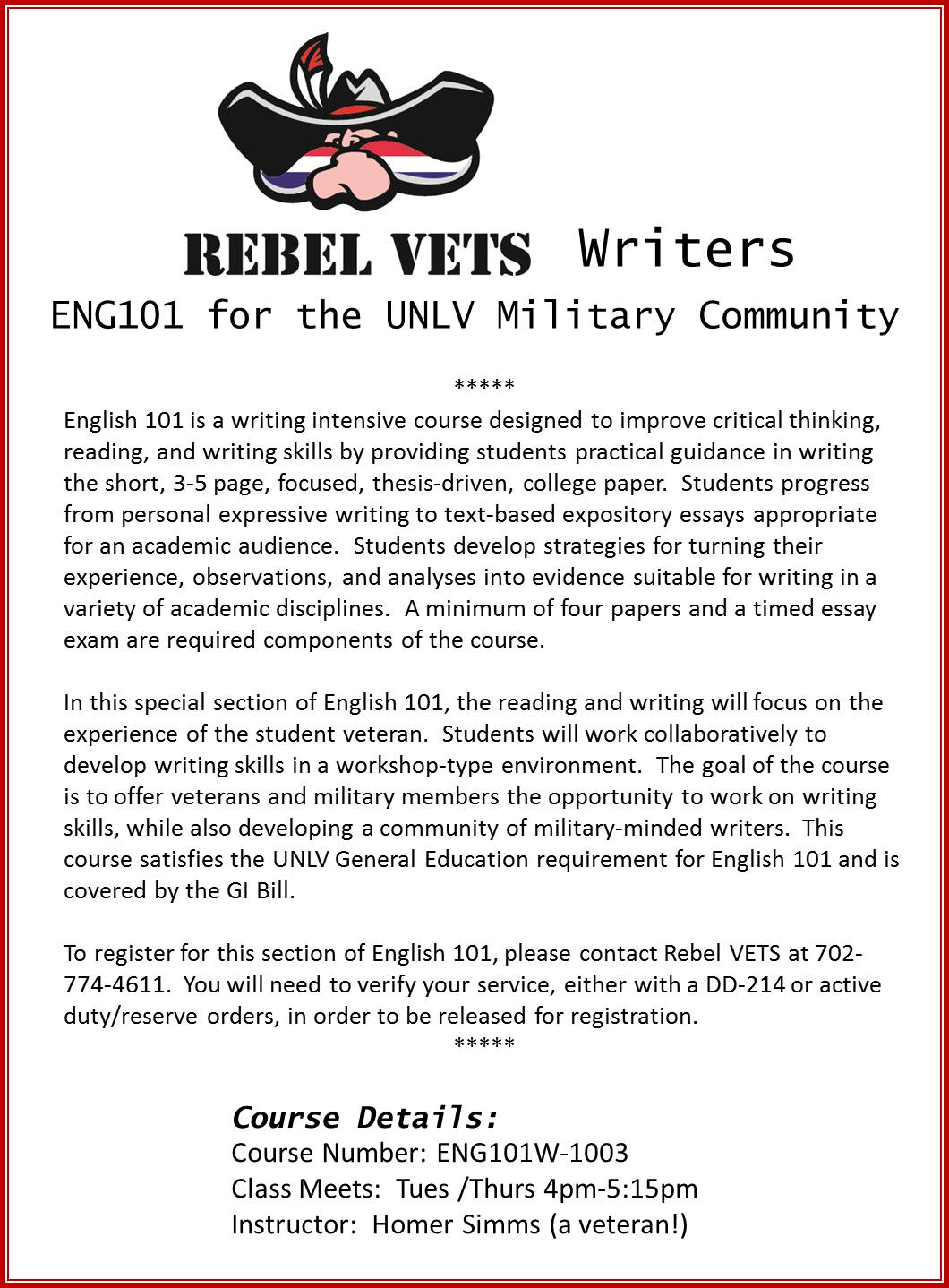How do I start and end a Veterans essay?